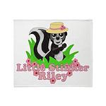 Little Stinker Riley Throw Blanket