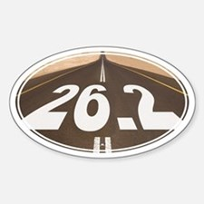 Unique 26.2 Painted Road - Sticker (Oval)