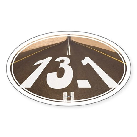 Unique 13.1 Painted Road - Sticker (Oval)