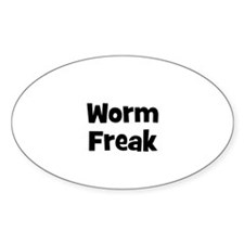 Worm Freak Oval Decal