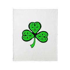 3 Leaf Celtic Throw Blanket