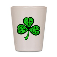 3 Leaf Celtic Shot Glass