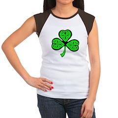3 Leaf Celtic Women's Cap Sleeve T-Shirt