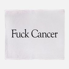 Fuck Cancer Throw Blanket
