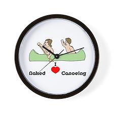 I Love Naked Canoeing Wall Clock
