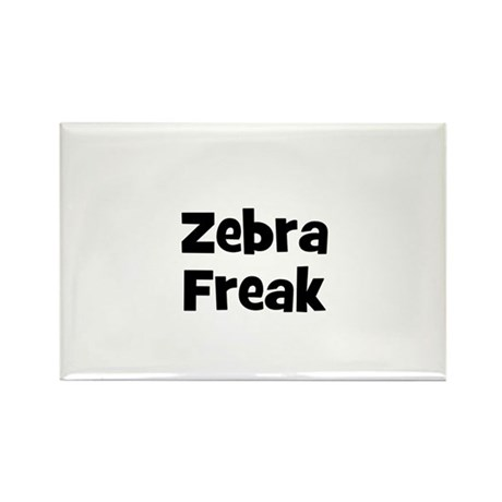 Zebra Freak Rectangle Magnet