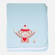 Sock Monkeys baby blanket