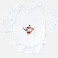 Sock Monkeys Long Sleeve Infant Bodysuit