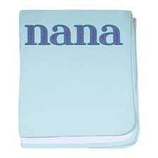 Nana Blue Glass baby blanket