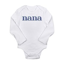Nana Blue Glass Long Sleeve Infant Bodysuit