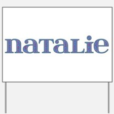 Natalie Blue Glass Yard Sign