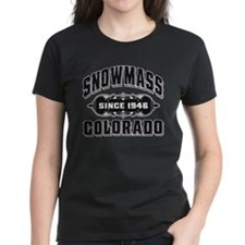 Snowmass Since 1946 Black Tee