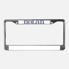 Nolan Blue Glass License Plate Frame