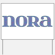 Nora Blue Glass Yard Sign