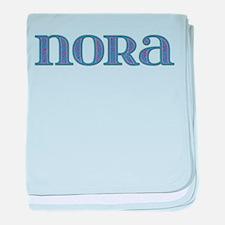 Nora Blue Glass baby blanket