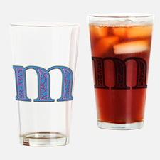 M Blue Glass Drinking Glass