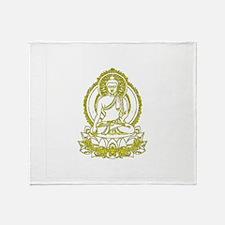 Golden Buddha Gifts Throw Blanket