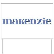 Makenzie Blue Glass Yard Sign