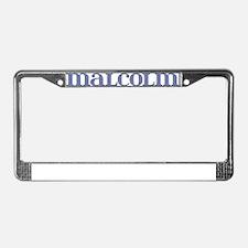 Malcolm Blue Glass License Plate Frame