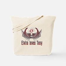 Elvira loves Tony Tote Bag