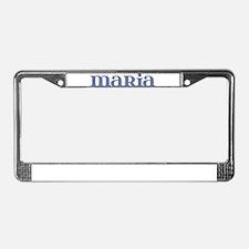Maria Blue Glass License Plate Frame