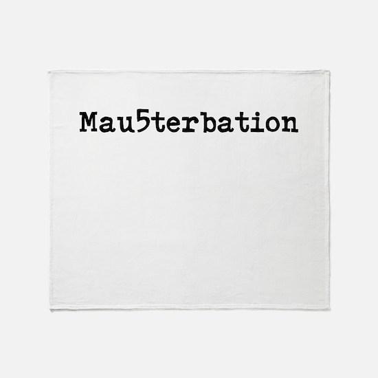 Mau5terbation Throw Blanket