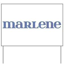 Marlene Blue Glass Yard Sign