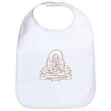 Buddha Silhouette Gifts Bib