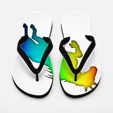 Rainbow Unicorn Flip Flops