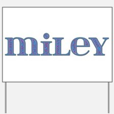 Miley Blue Glass Yard Sign
