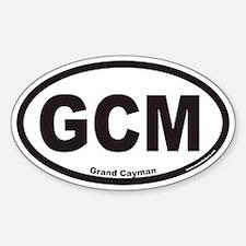 Grand Cayman GCM Euro Oval Decal