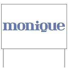 Monique Blue Glass Yard Sign
