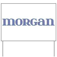 Morgan Blue Glass Yard Sign