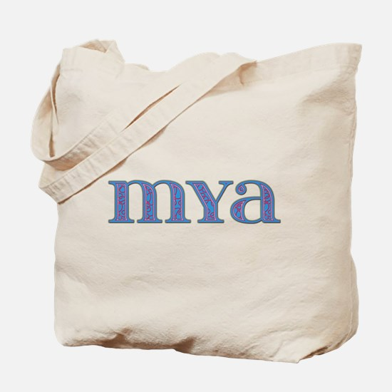 Mya Blue Glass Tote Bag