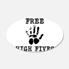 Free High Fives 22x14 Oval Wall Peel