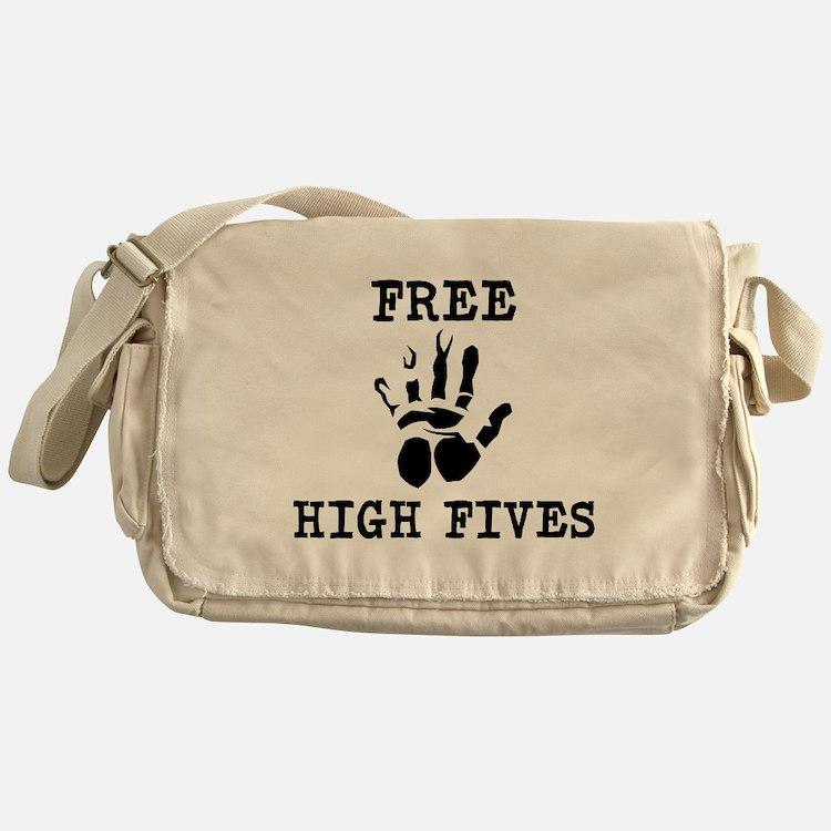 Free High Fives Messenger Bag