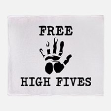 Free High Fives Throw Blanket