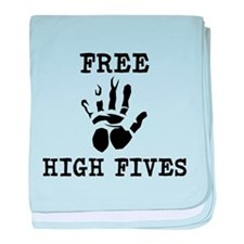 Free High Fives baby blanket