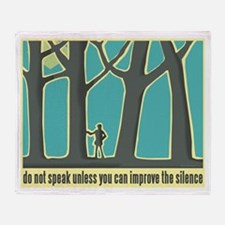 John Muir Quote Throw Blanket