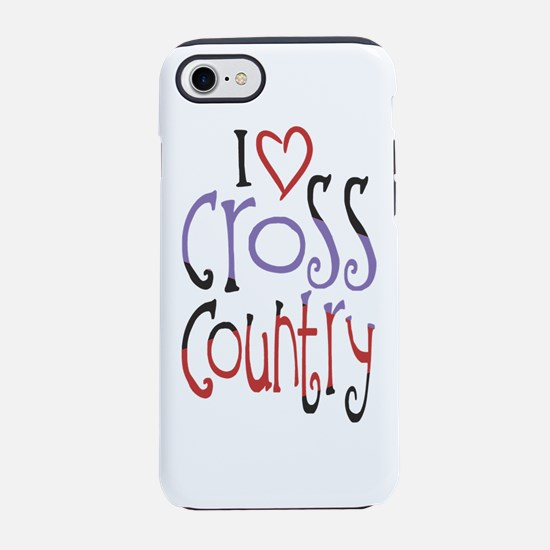 I love (heart) cross country iPhone 7 Tough Case
