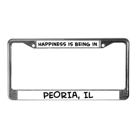 Happiness is Peoria License Plate Frame