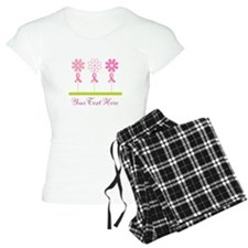 Pink Ribbon Personalized Breast Cancer Pajamas