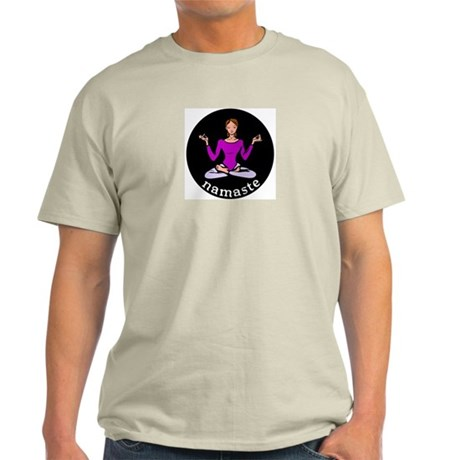 Namaste (Lotus Pose) Ash Grey T-Shirt
