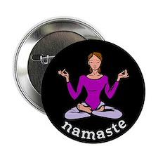 """Namaste (Lotus Pose) 2.25"""" Button (10 pack)"""