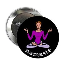 Namaste (Lotus Pose) Button