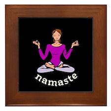 Namaste (Lotus Pose) Framed Tile