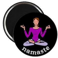 """Namaste (Lotus Pose) 2.25"""" Magnet (10 pack)"""