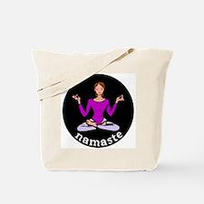 Namaste (Lotus Pose) Tote Bag