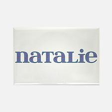 Natalie Blue Glass Rectangle Magnet