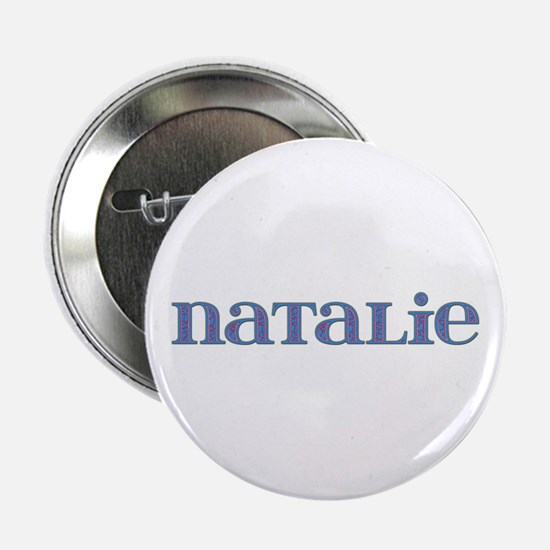 Natalie Blue Glass Button
